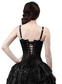 Viktorianische Corsage mit Tournüre schwarz