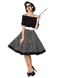 Vintage Swing-Kleid schulterfrei