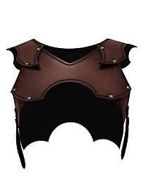 Leather Gorget - Strayer brown