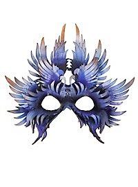 Vogel Ledermaske blau