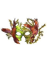 Vogel Ledermaske grün