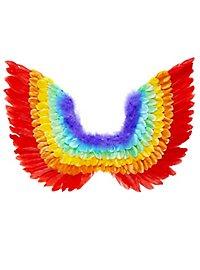Vogelflügel regenbogen