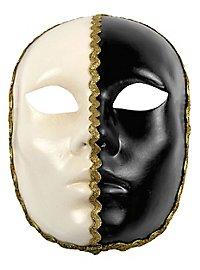 Volto 1/2 bianco 1/2 nero - masque vénitien