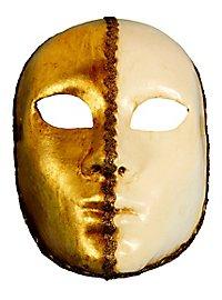 Volto 1/2 bianco 1/2 oro - Venetian Mask