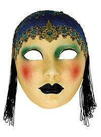Volto Anni 30 capp blu - Venetian Mask