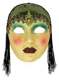 Volto Anni 30 capp oro - Venezianische Maske