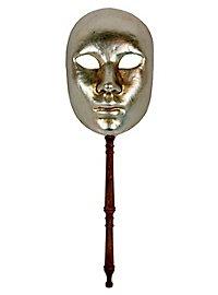 Volto argento con bastone - masque vénitien