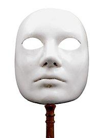Volto bianco con bastone - masque vénitien