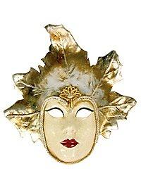 Volto Foglia argento - Venezianische Maske