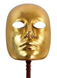 Volto oro con bastone - Venezianische Maske