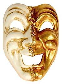 Volto ridi oro bianco - masque vénitien