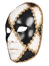 Volto scacchi bianco nero femminile Masque vénitien