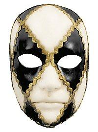Volto scacchi bianco nero - Venezianische Maske