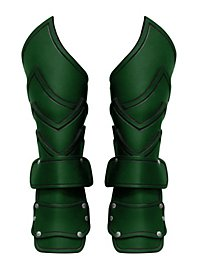 Warlord Vambraces with Hand Guard green