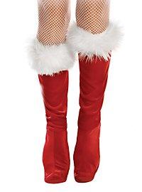 Weihnachtsfrau Stiefelstulpen