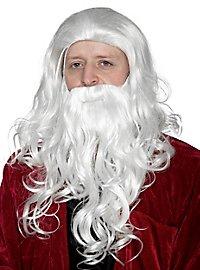 Weihnachtsmannbart & Perücke