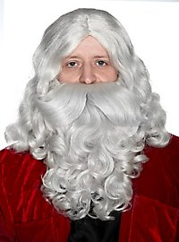 Weihnachtsmannbart & Perücke Deluxe