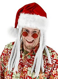 Weihnachtsmütze mit Dreadlocks