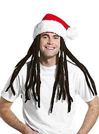 Weihnachtsmütze mit Rastazöpfen