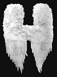 Weiße Dämonenflügel Federn