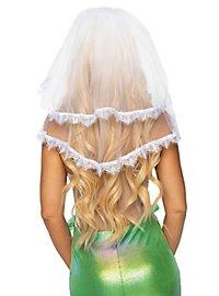 Weißer Brautschleier