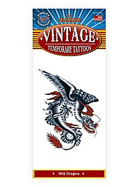 Weißer Drache Vintage Klebe-Tattoo