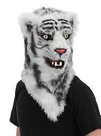 Weißer Tiger Maske mit beweglichem Mund