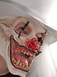 Weißer Voodoo Clown Maske