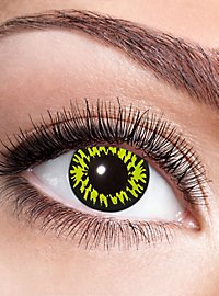 Werewolf contact lens with diopters