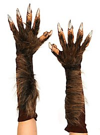 Werewolf hands made of latex