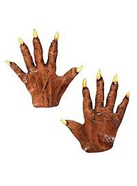 Werewolf Hands short made of latex