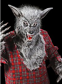 Werwolf grau Maske