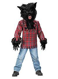 Werwolf schwarz Kinderkostüm
