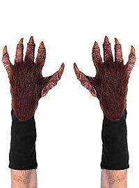 Werwolfhände Handschuhe braun