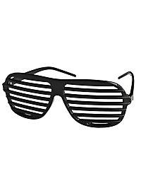 Atzenbrille schwarz