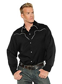 Westernhemd Cowboy schwarz