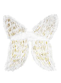 White Feather Wings gold-tipped