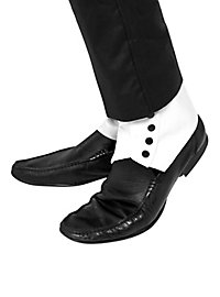 White Gaiters with Buttons