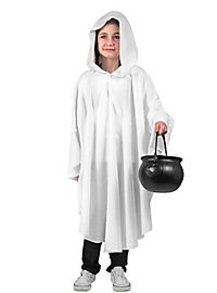 White ghost cape for children