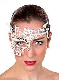 White lace mask asymmetrical
