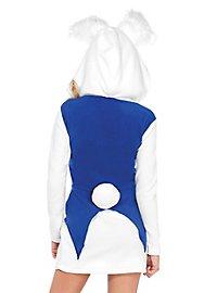 White rabbit hoodie dress