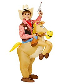 Wild horse inflatable kid's costume