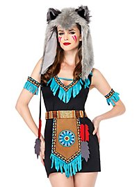 Wilde Wolfskriegerin Kostüm