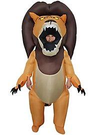 Wilder Löwe Aufblasbares Kinderkostüm