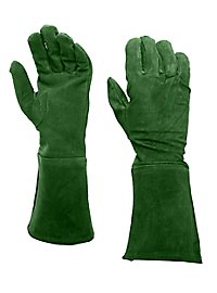 Wildlederhandschuhe grün