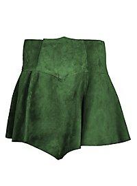 Wildlederrock grün