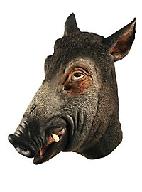 Wildschwein Maske aus Latex