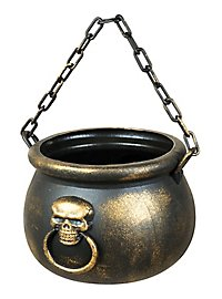 Witch Cauldron with Skull