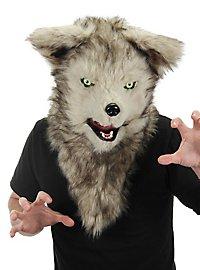 Wolfsmaske mit beweglichem Mund