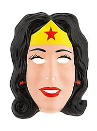 Wonderwoman Kindermaske aus Kunststoff